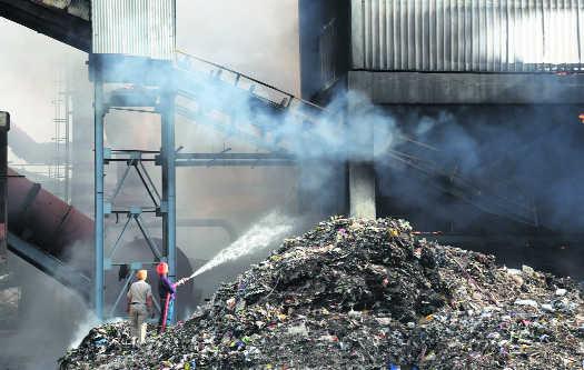 Major fire shuts waste plant