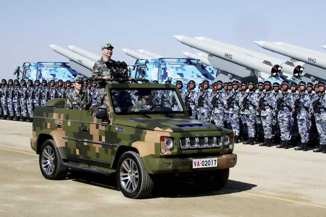 China spends more on defence than India, Japan, Korea, Australia put together