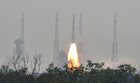 The Indian Space Research Organisation's (ISRO) Polar Satellite Launch Vehicle (PSLV-C45) launches India's Electromagnetic Spectrum Measurement satellite EMISAT—along with 28 satellites from other countries including Lithuania, Spain, Switzerland and the US—at the Satish Dhawan Space Centre in Sriharikota, in Andhra Pradesh, on April 1, 2019. PTI photo