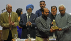 The Tribune Trustees honour Rajender Sharma, great-grandson of martyr Haqim Amin Chand.