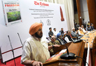 Punjab Chief Minister Capt Amarinder Singh speaks, during a function organised by The Tribune Trust to commemorate the centenary of the massacre at Bhargava Auditorium, PGI, Chandigarh, on Saturday. Tribune photo: Manoj Mahajan