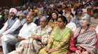 Dignitaries at the Jallianwala Bagh centenary commemoration at PGI's Bhargava Auditorium. Tribune photo: Manoj Mahajan