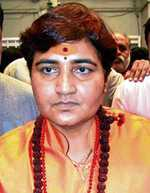 Top cop Karkare died for torturing me: BJP's Sadhvi