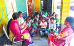 Pre-nursery students forced to attend classes in veranda