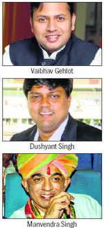 Raje, Gehlot & Jaswant scions slog it out for votes