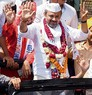 A show of strength: AAP, BJP candidates take out roadshows; file nominations