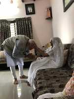 Prime Minister Narendra Modi meets mom; gets shawl, sweets, coconut with blessings