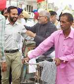 Gandhi seeks votes, funds too
