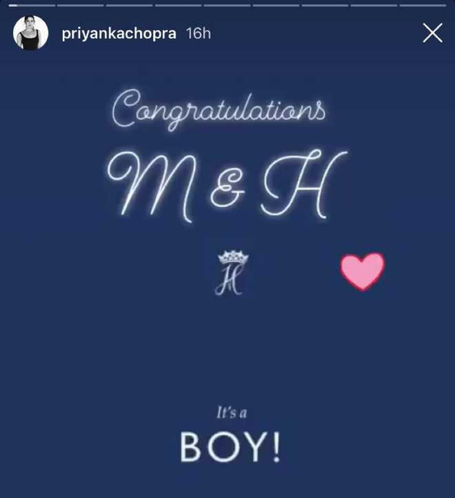 'Congratulations M and H': Priyanka Chopra's sweet message for welcoming Royal baby