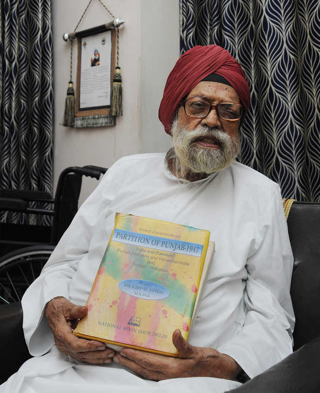 First chronicler of Partition Prof Kirpal Singh dies at 95