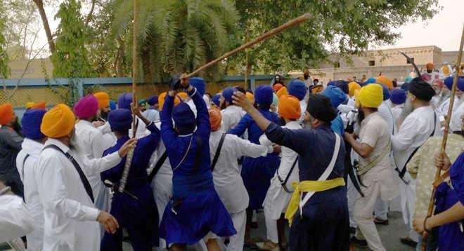 Clash mars Sikh activists' protest at Badal village