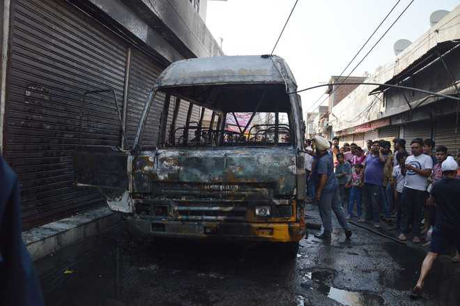 School bus catches fire in Ludhiana, none injured