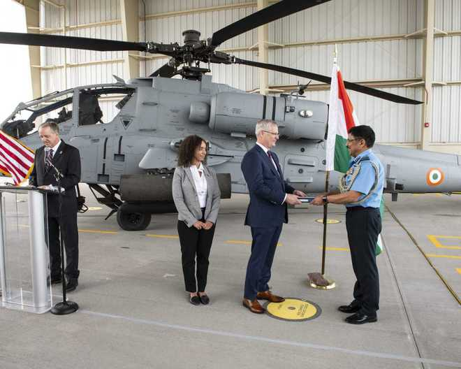 First US-made attack helicopter handed over to Indian Air Force