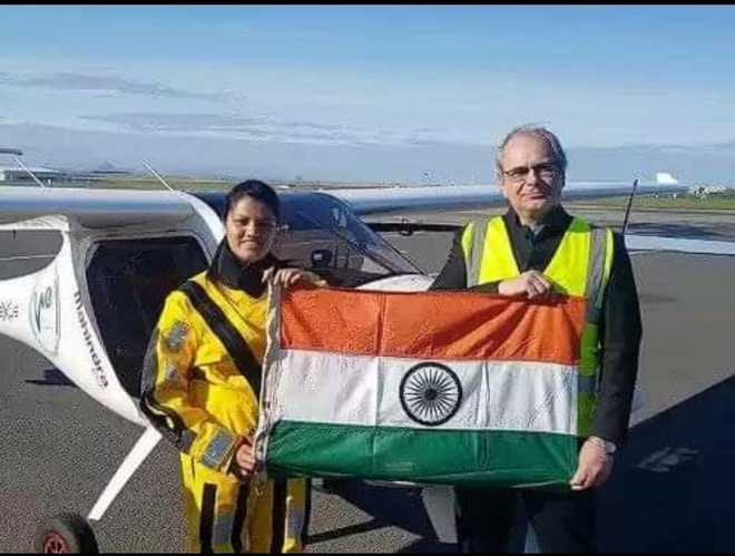 Mumbai girl first to cross Atlantic in light sport aircraft