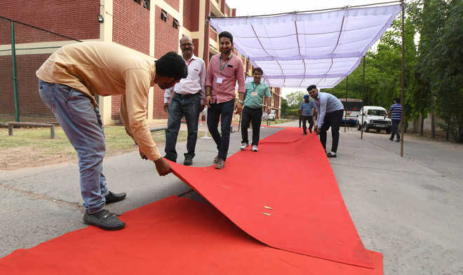 Red carpet welcome for voters at 24 model booths
