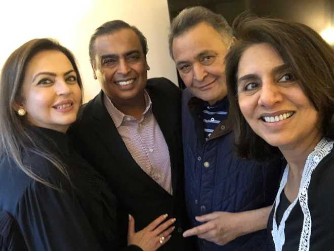 Mukesh Ambani and Nita Ambani stop by to see Rishi Kapoor in New York