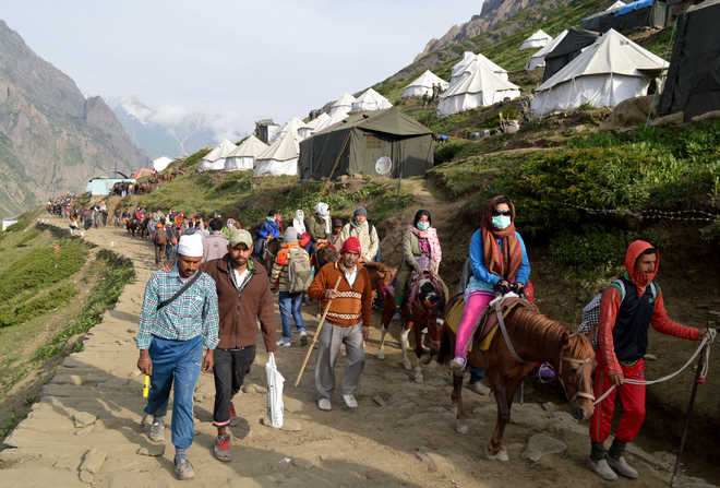 Governor reviews security for Amarnath pilgrimage