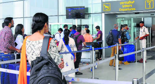 All's not well, traffic nosedives at city airport