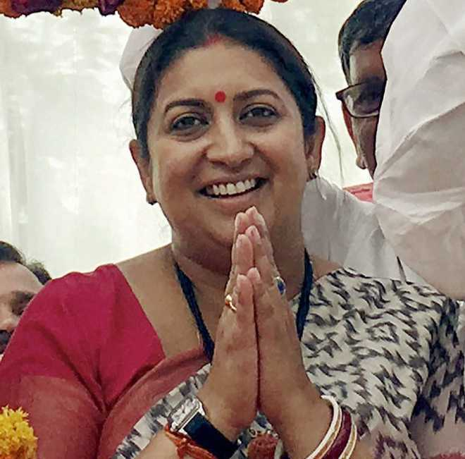 Day before LS poll results, Smriti Irani thanks voters for believing in 'Bharat'