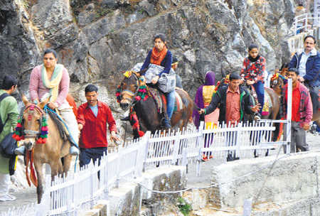 Safety gear for Vaishnodevi pilgrims to prevent injuries