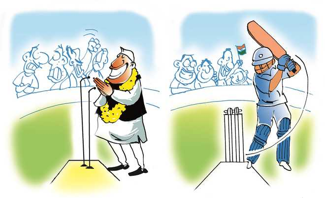Divided by politics, united by cricket