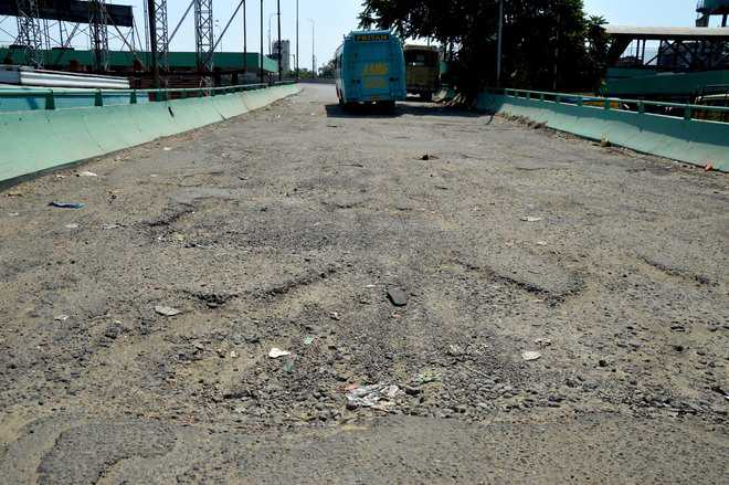 Broken flyover road open invitation to mishap