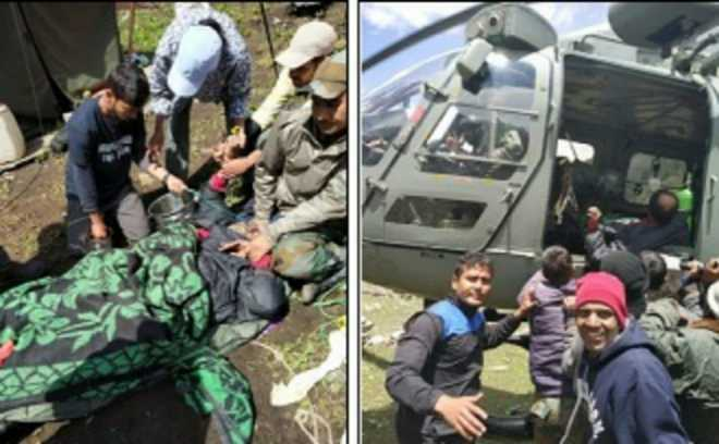 Indian Air Force rescues 2 trekkers in Himachal