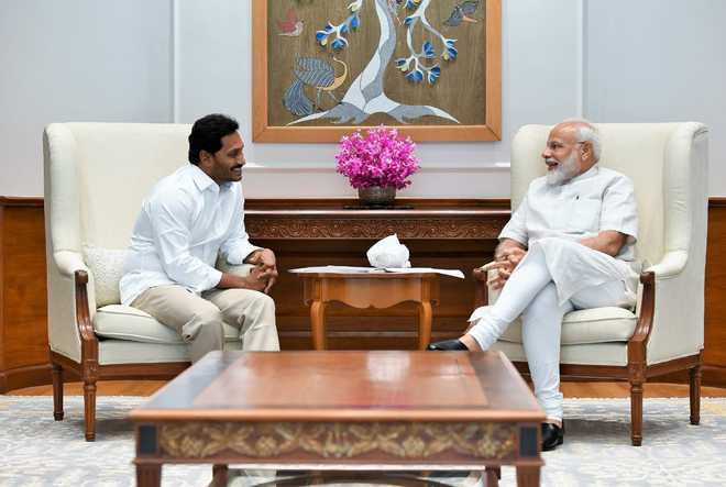 Jagan Reddy asks Centre for funds for AP, invites PM for swearing-in