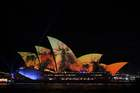 The sails of the Sydney Opera House are illuminated with lights at the start of the Vivid Sydney festival in Sydney on May 24, 2019. — AFP
