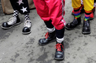 Clowns shoes are seen during Peru's Clown Day celebrations in Lima, Peru May 25, 2019. — Reuters