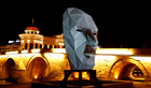 An art installation is displayed during Skopje light art district festival in Skopje, North Macedonia May 29, 2019. — Reuters