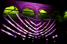 A light installation is displayed during Skopje light art district festival in Skopje, North Macedonia May 29, 2019. — Reuters