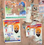 Elections end, political posters continue to deface walls in city