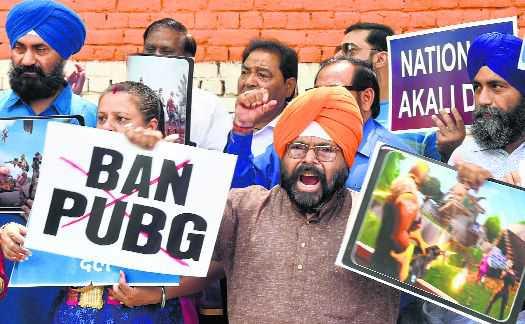 National Akali Dal activits at Jantar Mantar in New Delhi on Tuesday. Manas Ranjan Bhui