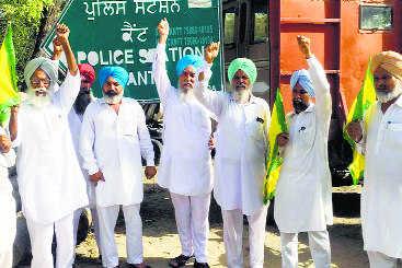 Farmers seek FIR against two