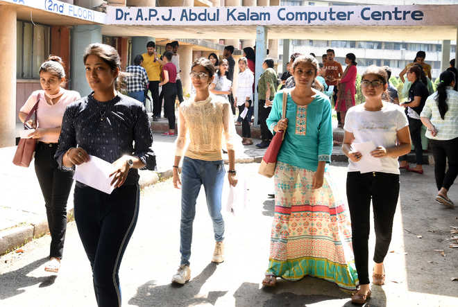 12,908 appear for PU-CET (PG)