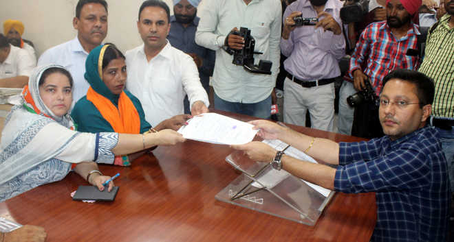 Candidates file papers for bypolls