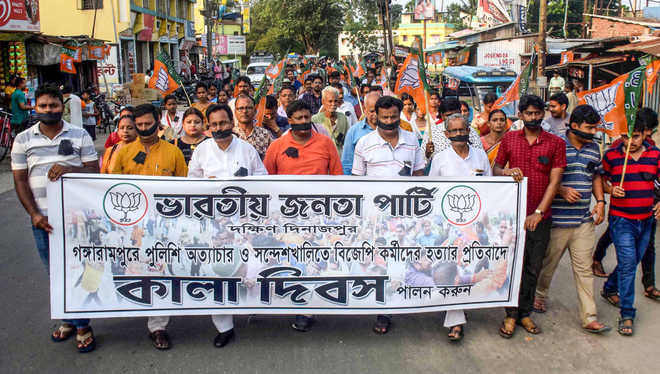 Kolkata Police use batons, teargas to quell BJP protests