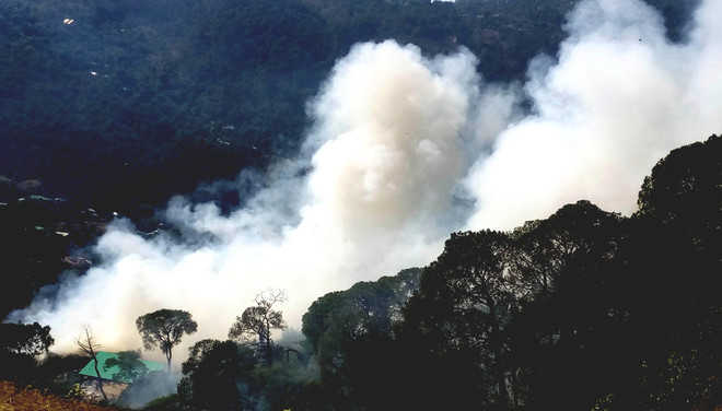 Fire rages at solid waste dumping site in Dharamsala