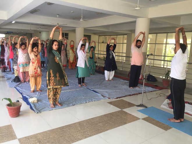 Health Dept to give yoga training to residents
