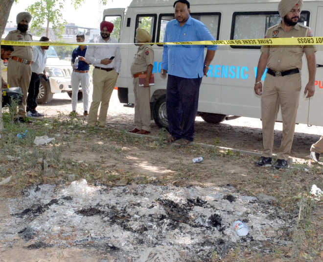 Charred body of man found