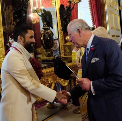 Sabyasachi meets Prince Charles at masquerade ball