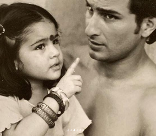 Sara Ali Khan posts old pictures with Saif Ali Khan on Father's Day