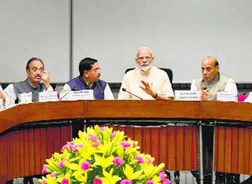 PM revives one nation, one election debate, calls meet