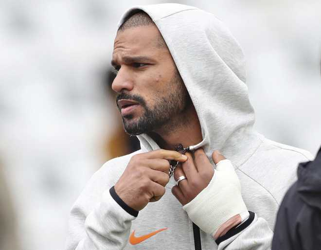 Dhawan out, Pant to replace