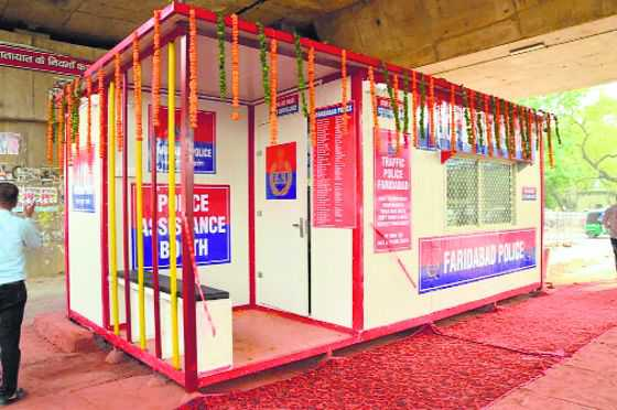 Well-equipped booths to check traffic violations