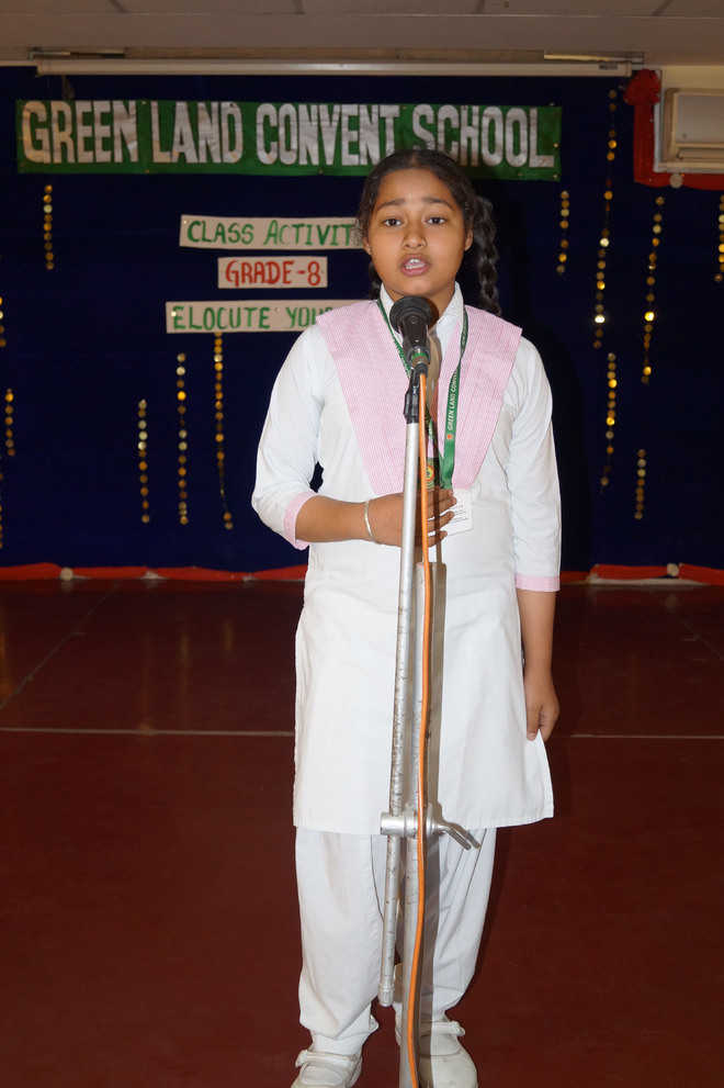 Elocution competition organised