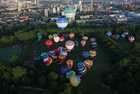 Hot air balloons take off from Battersea Park in London, Britain, June 9, 2019. — Reuters