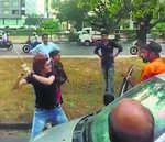 Girl attacks youth with rod in road rage, held