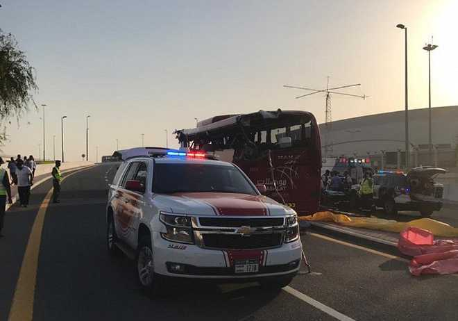 Wrong placing of height barrier blamed for Dubai bus crash that killed 12 Indians